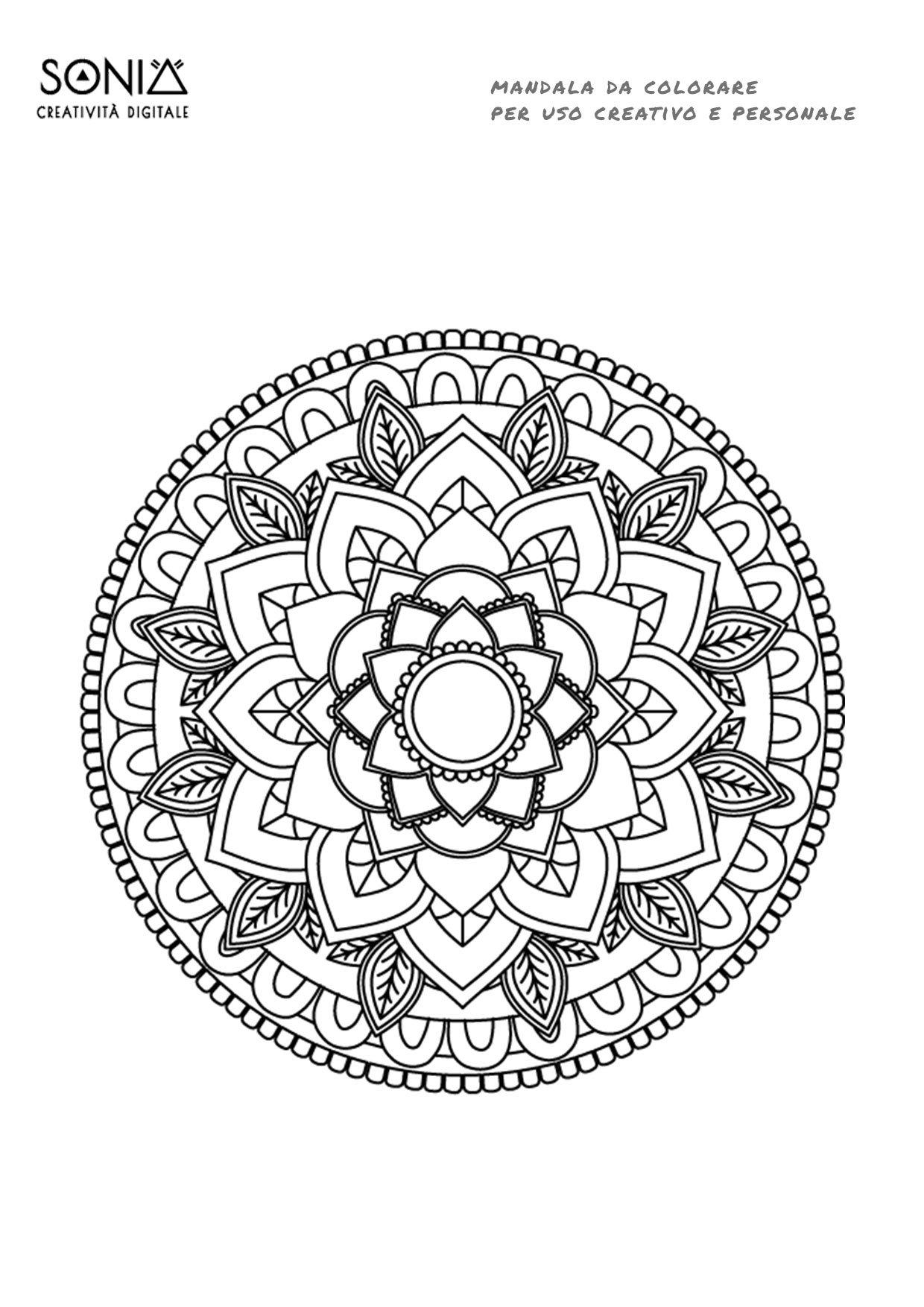 Mandala Da Colorare Free Libera La Tua Energia Creativa